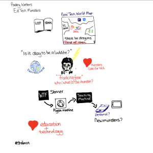 Visual notes from Audrey Watters keynote ALTC 2014