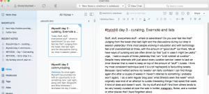 screenshot of my evernote