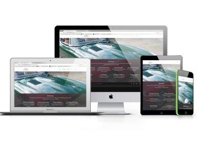 Luxury car restoration website