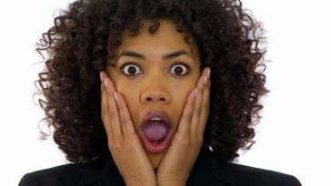 a shocked black lady