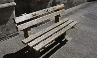 bench for non-whites