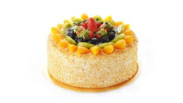fruits cake preparation