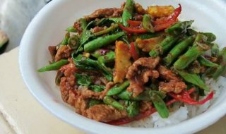 coconut pork stir-fry