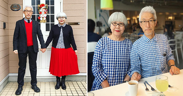 Couple Wears Matching Outfits