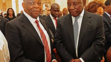 Spokesperson Ronnie Mamoepa and Deputy President Cyril Ramaphosa