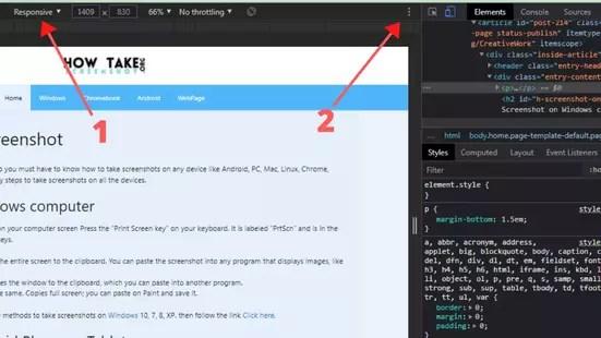 take Screenshot Webpage