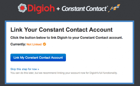 Link Digioh to ConstantContact