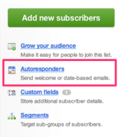 Create an Autoresponder in Campaign Monitor