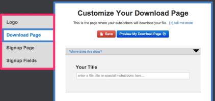 Customize your Digioh download page
