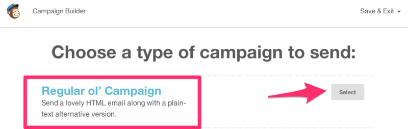 Create a Regular Ol' Campaign in MailChimp