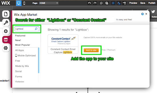 Find the Digioh Lightbox in the App Market