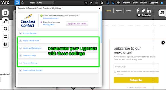 Customize your Lightbox