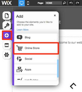 Add Wix Online Store