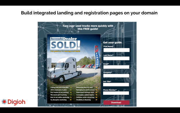 Build Marketing Cloud-integrated landing pages with Digioh too