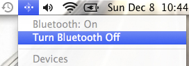 Turn Bluetooth Off