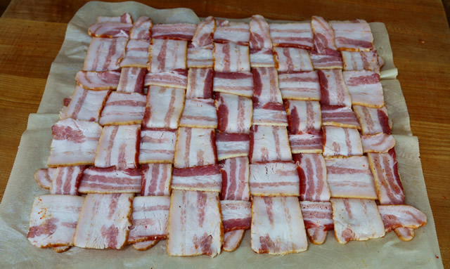 Football Explosion bacon weave