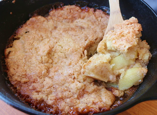 Apple Cobbler on the Grill