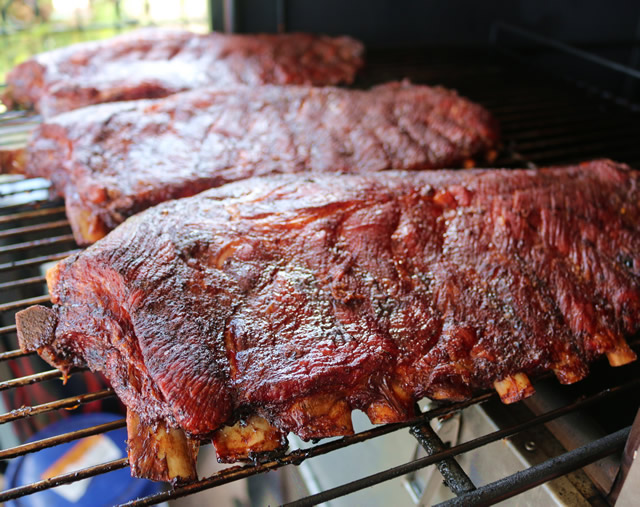 whole smoked spare ribs recipe with hickory wood. Black Bedroom Furniture Sets. Home Design Ideas