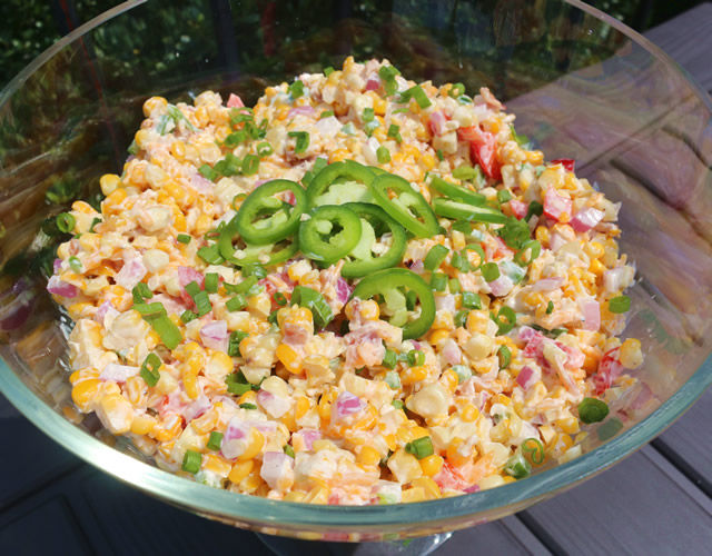 grilled corn salad