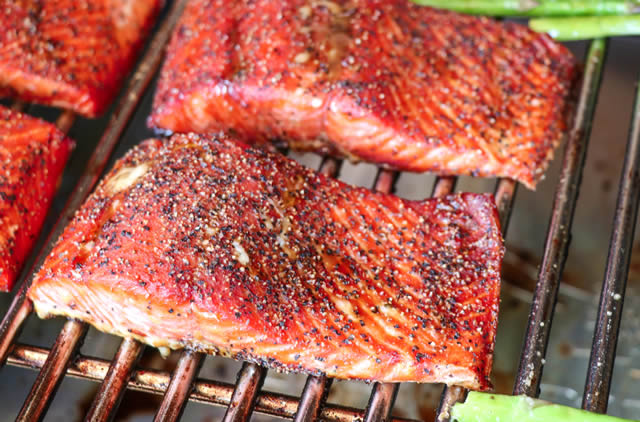 molasses glazed salmon