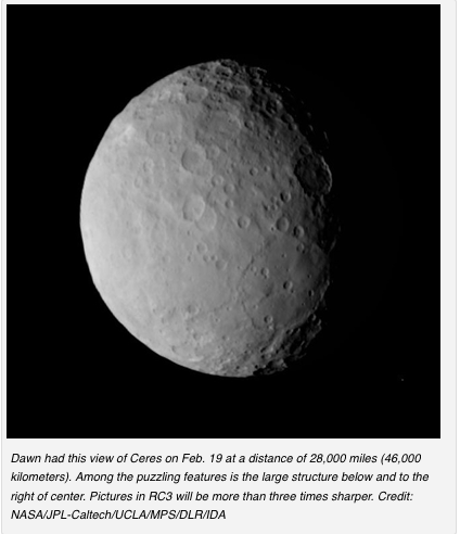 Ceres from Dawn spacecraft