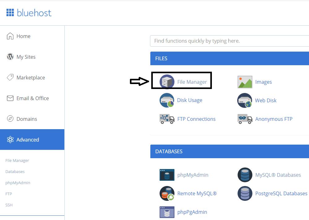File manager_menu