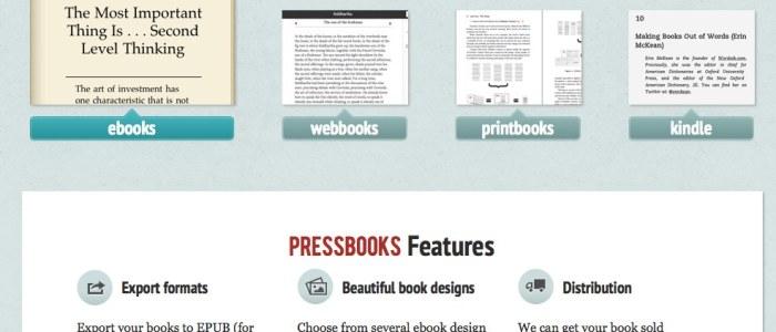 Pressbooks: An Option for Blogging Books and Booking Blogs from Start to Finish