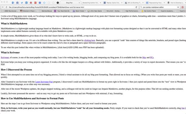 Scrivener compile web copy