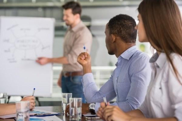 trainer leading workshop