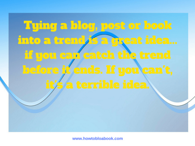 blog and book trend