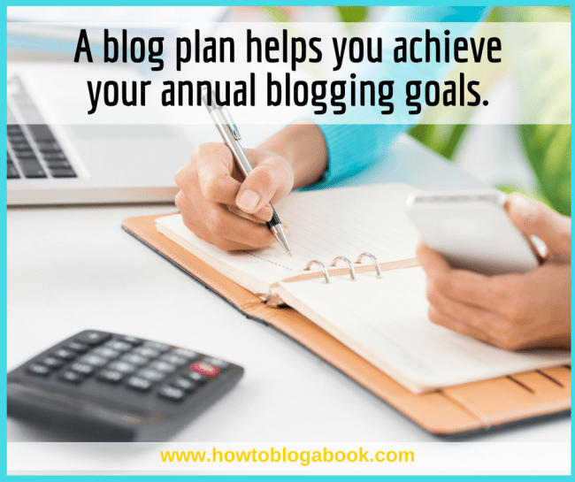 blog goal planning for new year
