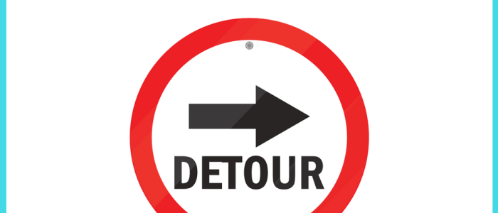 How to Deal With Detours, Delays and Disasters in Your Blogging Career