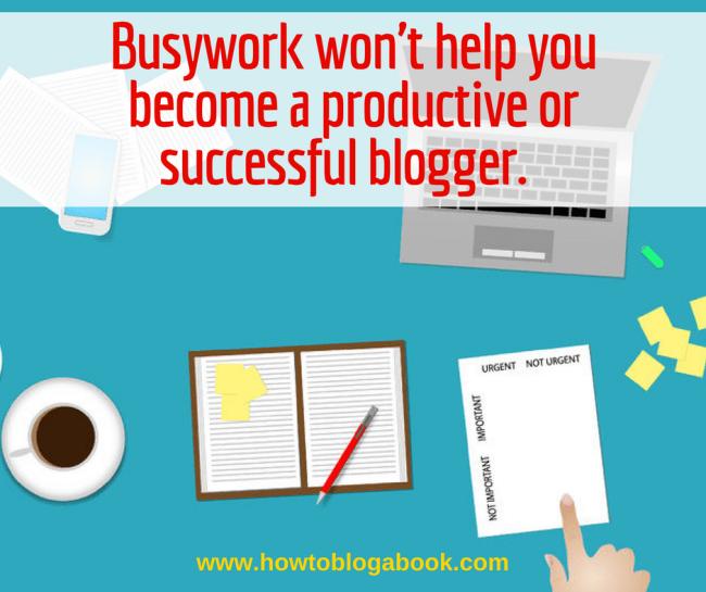 Blogging busywork