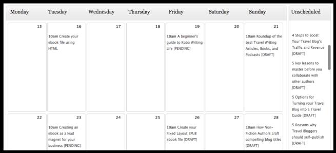 using an editorial calendar for a blog