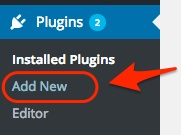Screenshot indicating the Add New Plugin link