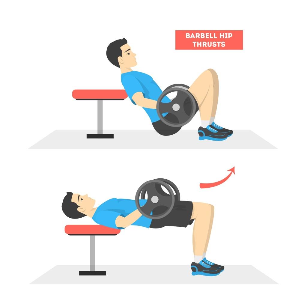 Barbell hip thrust