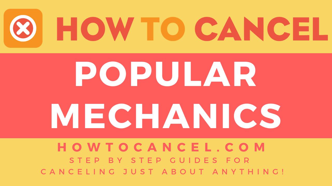 How to Cancel Popular Mechanics - How To Cancel