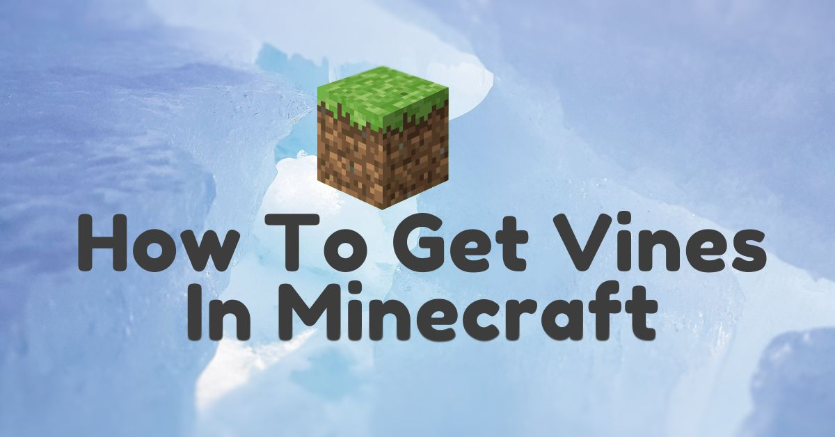 How To Get Vines In Minecraft