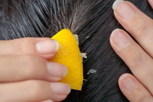 apply lemon for hair