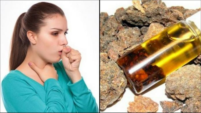 myrrh oil relieves coughing fits