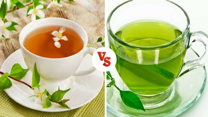 Jasmine tea and green tea