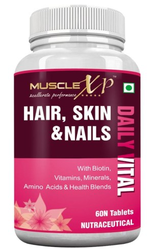 MuscleXP Hair, Skin & Nails with Biotin, Vitamins, Minerals, and Amino Acids