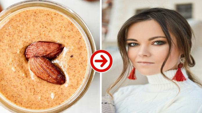 almond butter helps to prevents skin aging