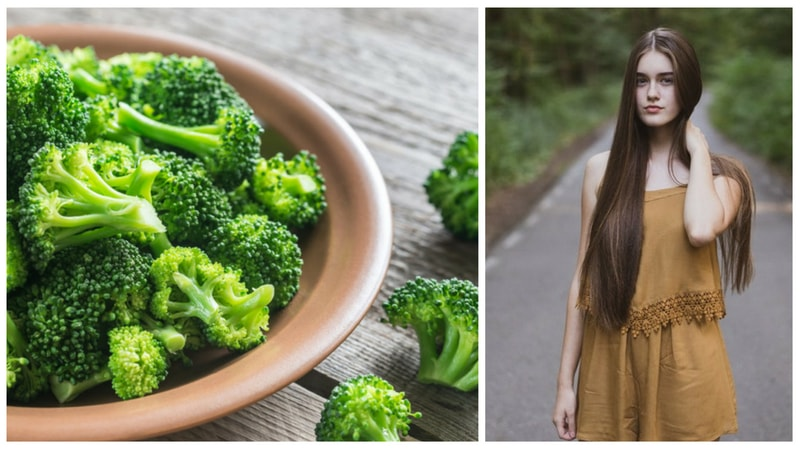 broccoli health benefits for lustrous hair