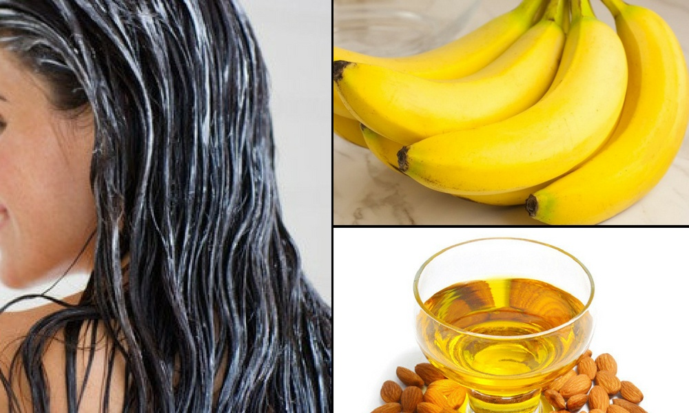 Almond Oil and Banana Mask for Hair