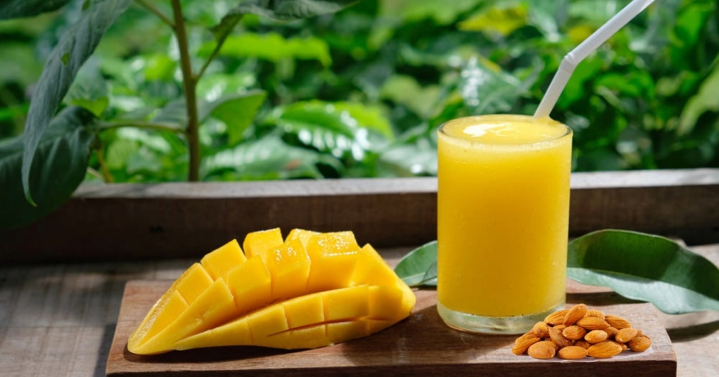 alphonso mango almond milk protein shake for weight loss