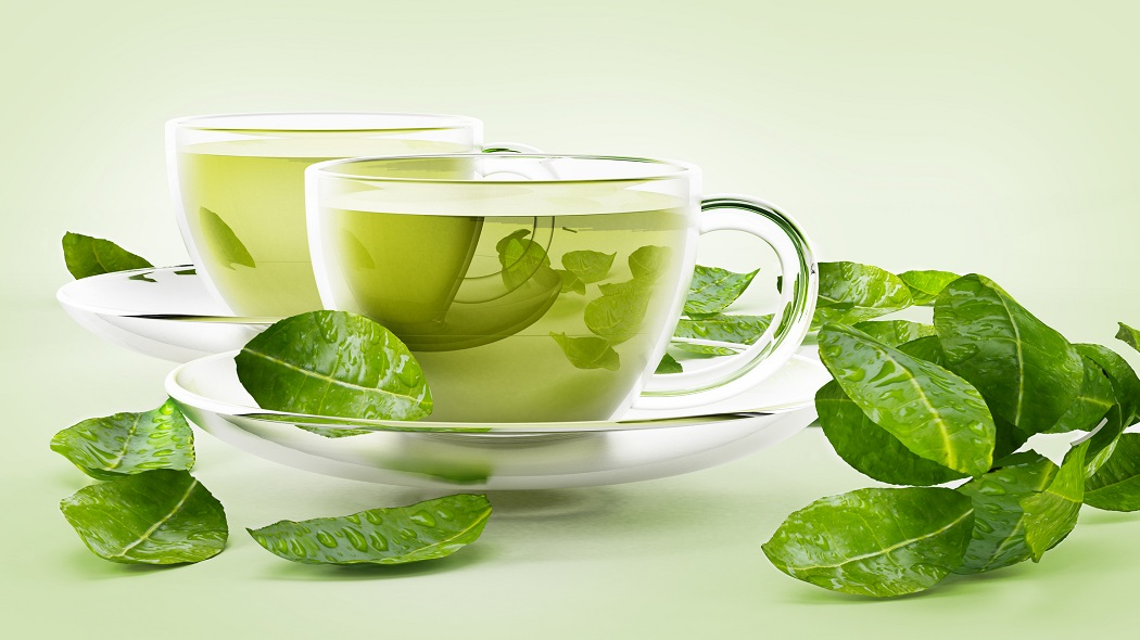 get rid of bacne with green tea