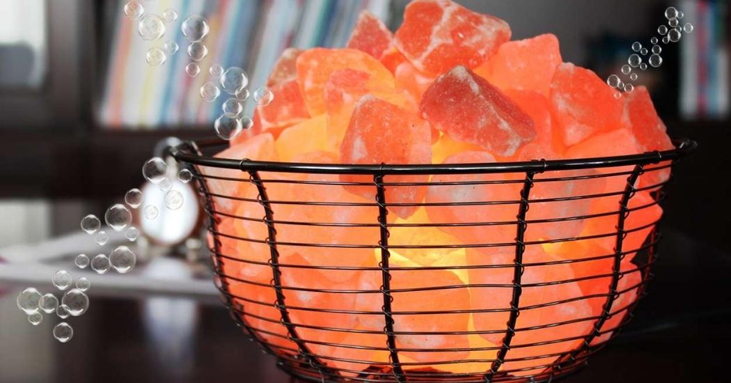 himalayan salt lamp for purifies the air