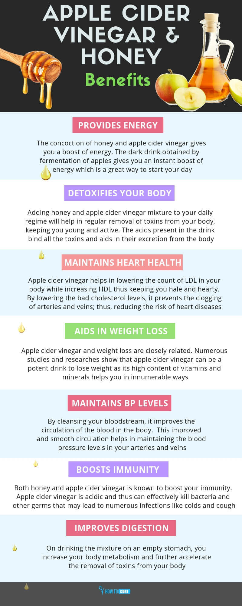 honey and apple cider vinegar infographic