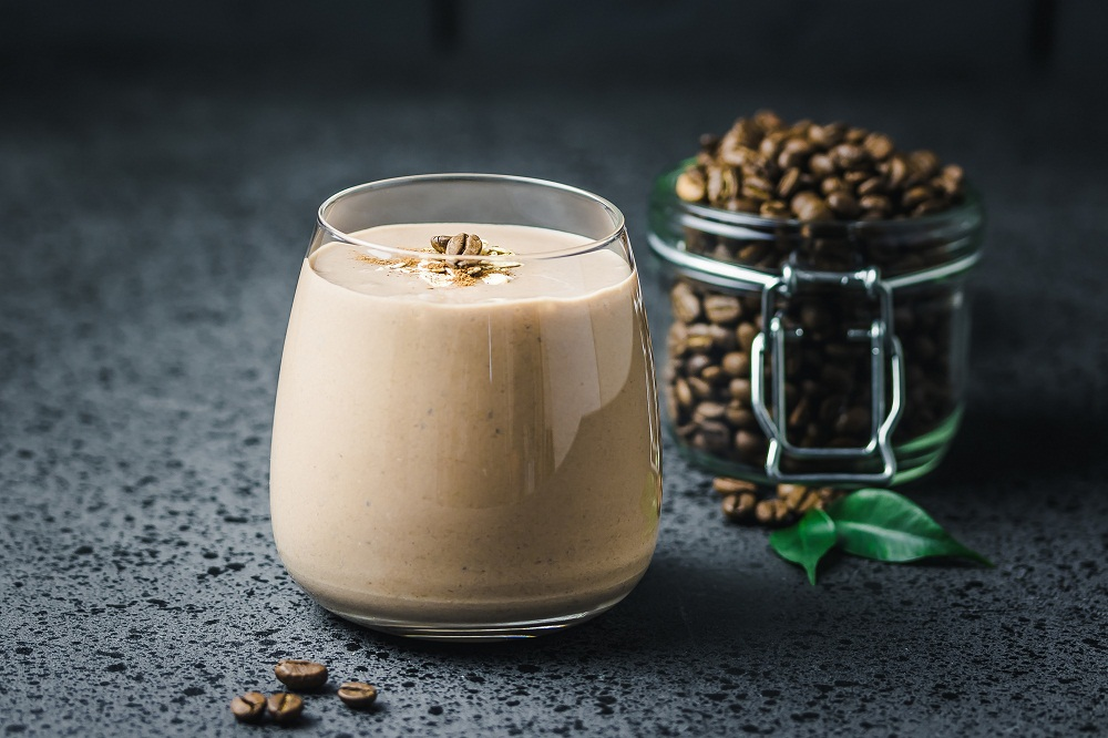 cacao coffee banana smoothie